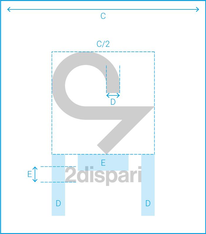 identità 2dispari - marchio + logo spazi