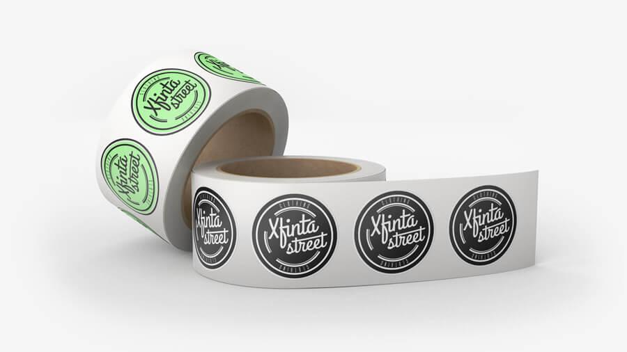adesivi personalizzati a rotolo