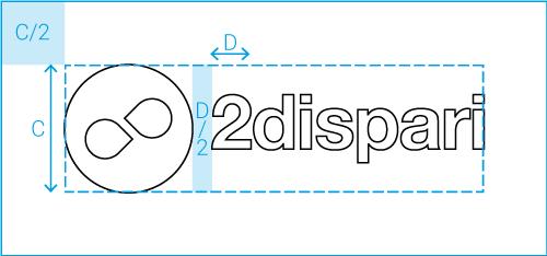 schema logo 2dispari dentro rettangolo